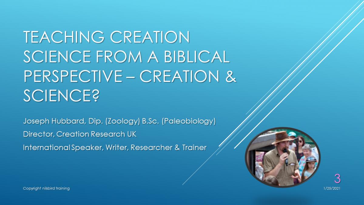 Creation & Science VOD Webinar